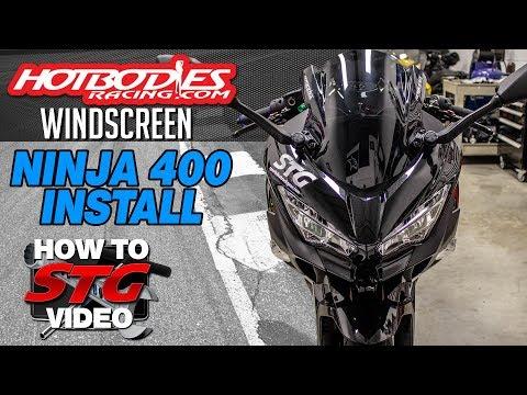 Hotbodies Kawasaki Ninja 400 Windscreen Install | Sportbike Track Gear