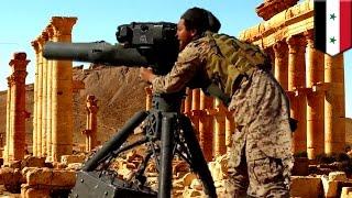 ISIS video shows jihadists using American-made TOW anti-tank missiles in Palmyra - TomoNews