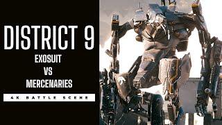 DISTRICT 9 Exosuit Battle Scene 4K