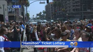 Thousands Turn Out In Hollywood To Meet Lin-Manuel Miranda, Win