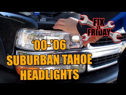 Suburban & Tahoe Head light bulb change 2000-2006(GMC-Chevrolet)