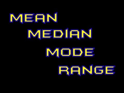 Mean, Median, Mode, and Range Made Easy!