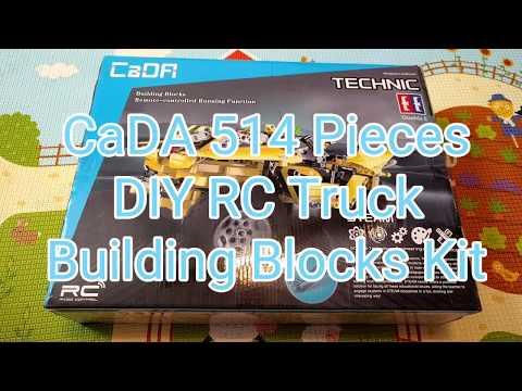 CaDA Technical 514 PCS DIY Assembly RC Car Building Blocks Kit