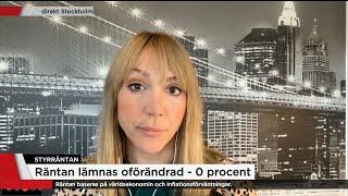 Därför lämnas räntan oförändrad - Nyheterna (TV4)