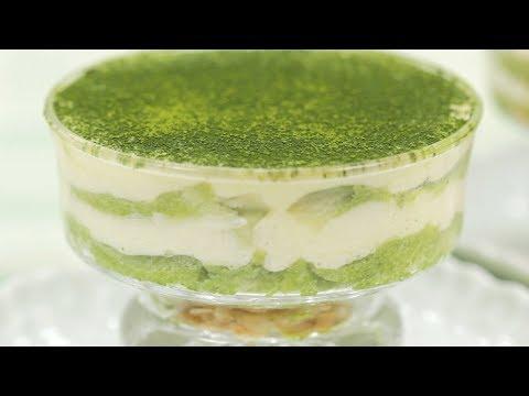Green Tea Tiramisu Recipe (Irresistible Matcha Italian Cake with NO Heavy Cream) | Cooking with Dog