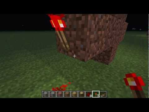 How to build a single column redstone clock in minecraft - Redstone repeater
