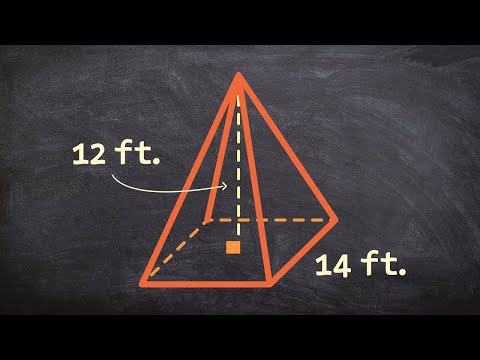 how to determine the surface area of a square pyramid