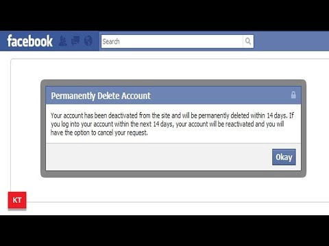 Here is the method to delete your Facebook account permanently