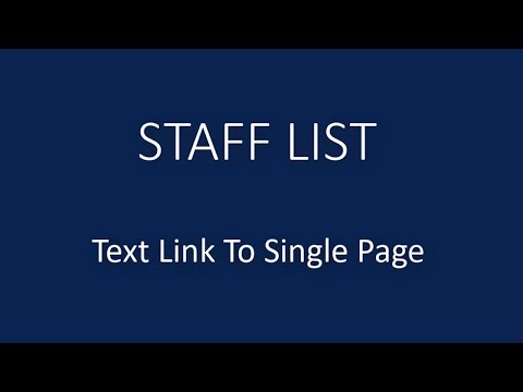WordPress Plugin | Staff Directory | Text Link To Single Page