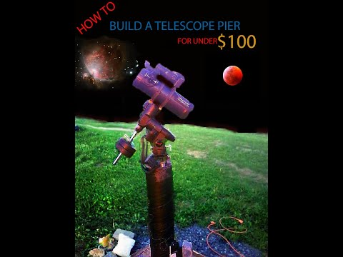 How to build a Pier for your Telescope