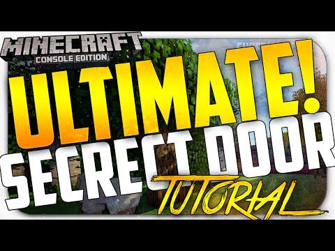Minecraft Console: *NEW* Ultimate Secret Door  Entrance - NO REDSTONE + Super Easy