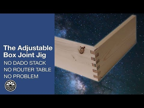 The Adjustable Box Joint Jig: No Dado Stack, No Router Table, No Problem