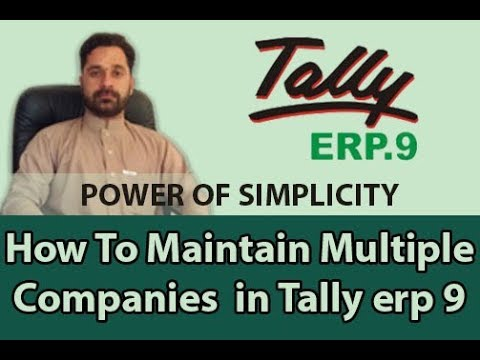 how to create Group companies in tally erp 9.1 step by step
