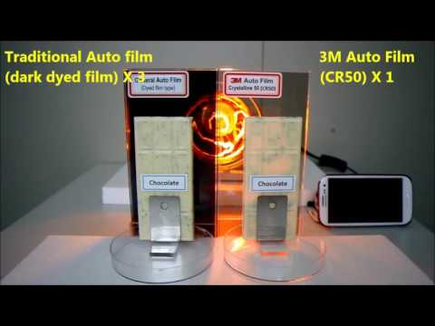 3M Window Film   Heat rejection performance demo with white Chocolate