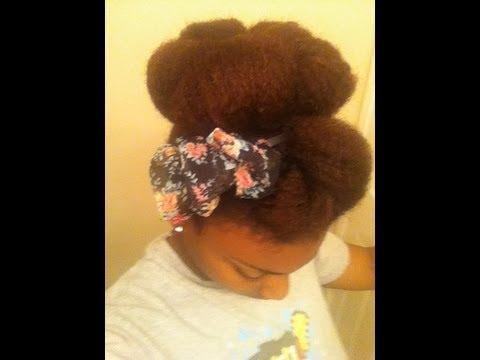 Super Easy Bun Tutorial for Natural Hair (Any Length)