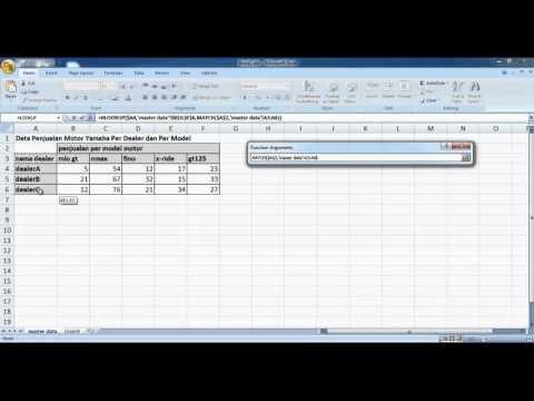 Tutorial Function Hlookup dan Match pada Microsoft Excel