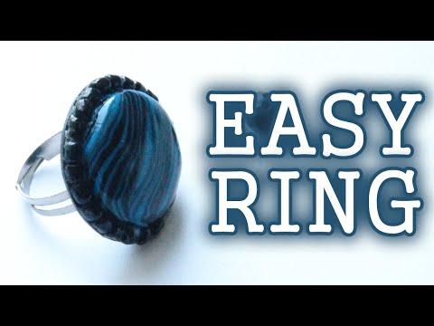 DIY Easy Ring - Polymer Clay Tutorial