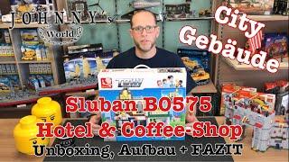 Download Sluban B0575 Downtown Hotel & Coffee Shop aus der Town Serie - Unboxing, Aufbau + FAZIT Video
