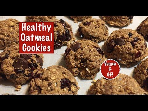 Healthy Oatmeal Cookies - Vegan & Gluten Free!