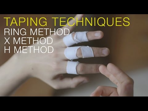 Finger tape for pulley injuries (climber's finger)