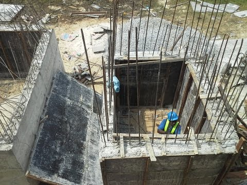 How we sink precast concrete septic tank into the ground manually