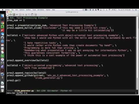 Advanced Python 2:  Advanced Text Processing