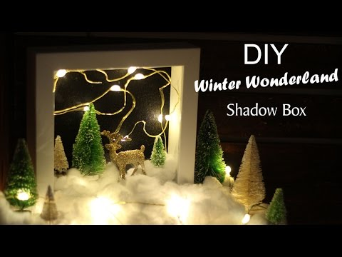 DIY WINTER WONDERLAND SHADOW BOX || KATIE BOOKSER