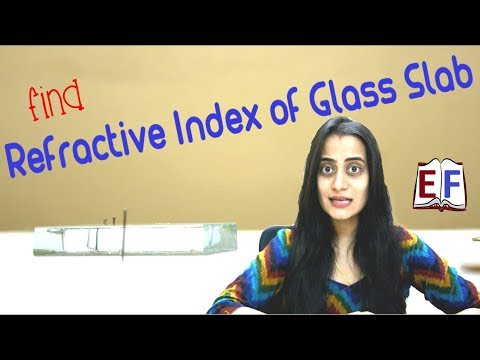 Find Refractive Index of Glass Slab using Pins : School Science Experiment
