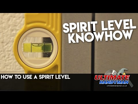 How to use a spirit level
