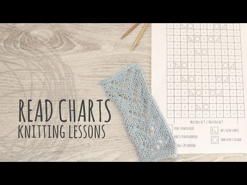 Knitting Lessons - How to Read a Knitting Chart