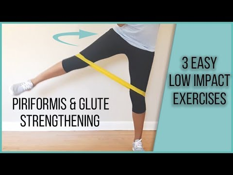 3 EASY exercises to strengthen piriformis & glute medius - 5 Minute Low Impact #6