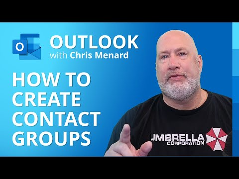 Create a contact group / distribution list in Outlook by Chris Menard