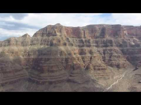 Taking off from West Rim of the Grand Canyon in helicopter