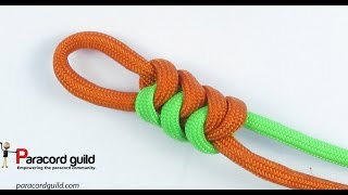 Easy Tutorial: Paracord snake knot knife lanyard simple version (2