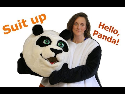 Hi friends! Dress up in a Panda mascot costume. | I am making mascots