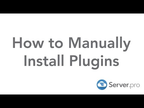 How to Manually Install Plugins - Server.pro