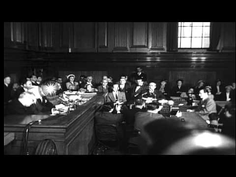 Frank Costello testifying before the Kefauver Committee and giving the famous