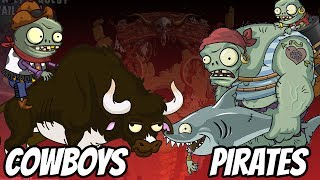Download Wild West Zombies vs Pirate Seas Zombies | Plants vs Zombies 2 Epic MOD Video