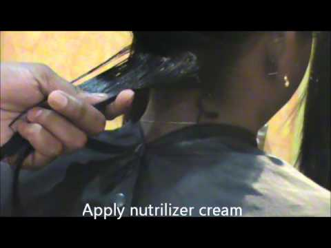 How to straighten curly hair with permanent easy straightening process ( video)