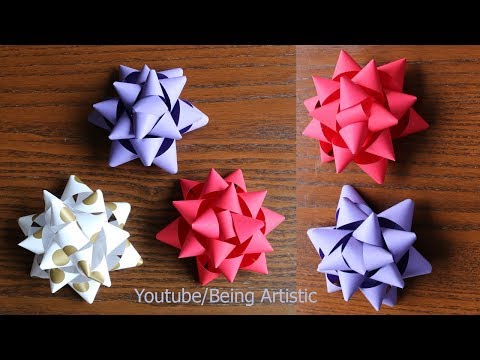 Easy way  To Make Paper Bow -  DIY -  Paper Craft - Handmade Craft