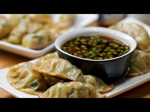 Spring Vegetable Potstickers (Gyoza)