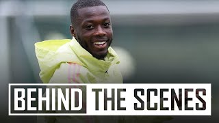 😍That finish from Pepe! | Behind the scenes at Arsenal training centre