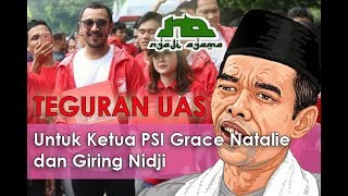 Teguran Keras ust Abdul Shomad untuk Grace Natalie Ketua PSI @ Ngaji Agama 15