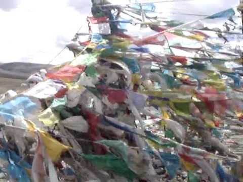 Mountain Pass In Tibet - Meditation - Tibetan Prayer Flags