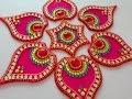 How to make acrylic rangoli | DIY kundan rangoli | Beads art