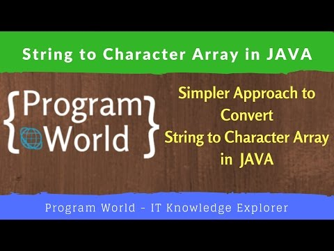 Conversion of String to Character Array in Java | Program World