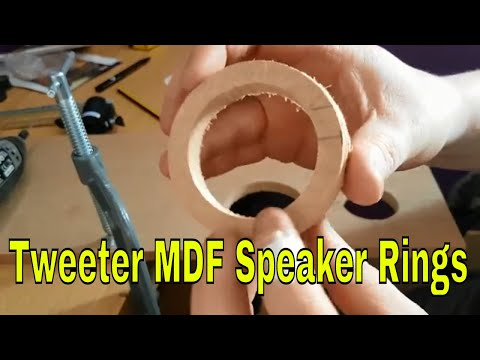 How to make Speaker Rings out of MDF (Ford Mondeo MK3)