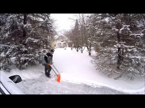 Shoveling Snow time lapse. Go Pro Hero 4 Silver