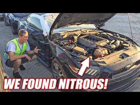 WRECKED Mustang at Auction Has Hidden NITROUS! Should We Buy It!?!