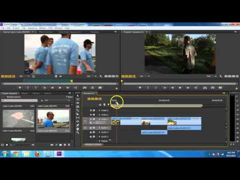 Adobe Premiere Pro CS6 - Basic Editing Introduction Tutorial